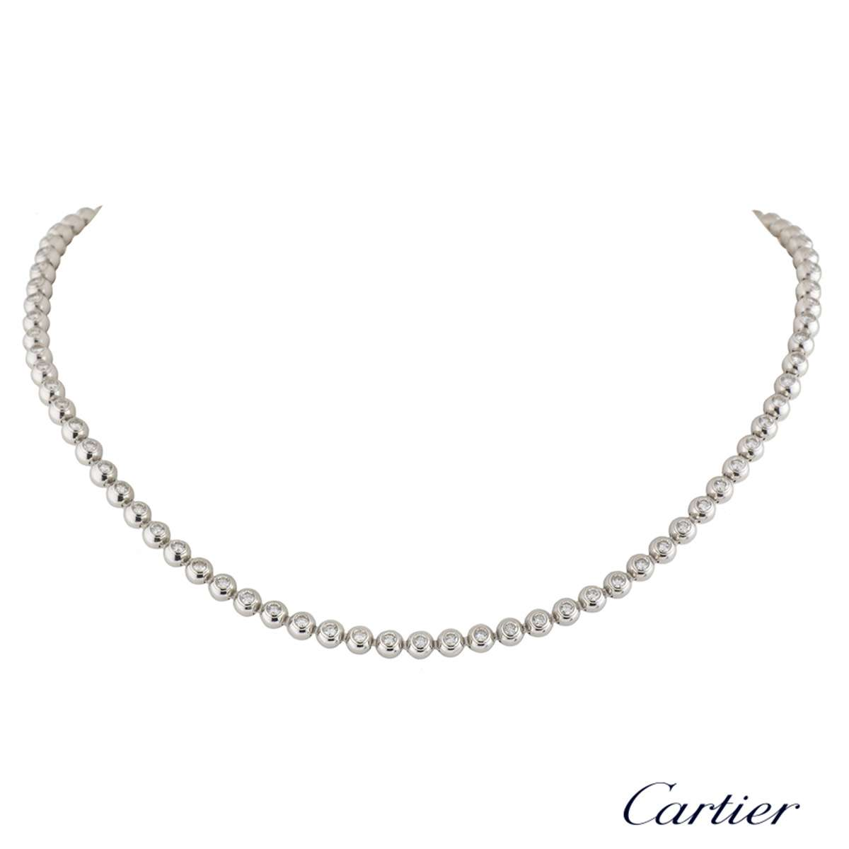 Cartier White Gold Diamond Moonlight Necklace 3.36ct G+/VVS